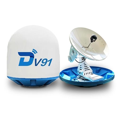 Ditel V91 90cm Marine Antenna Dish Satellite Ship GPS Antennas Vsat Dish Ku Band  Portable Internet
