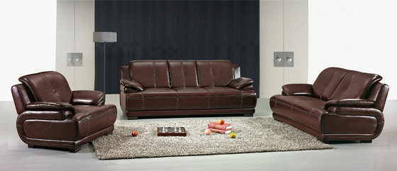 Solid Wood Leather Living Room/Home Furniture Corner/Sectional Sofa (869)