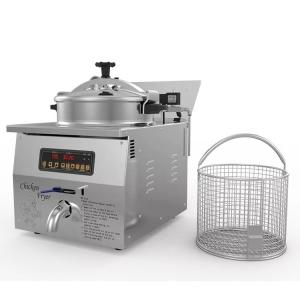 Wholesale computer table: 304 Stainless Steel Home Use 16L Table Top Fryer Computer Panel Broaster Chicken Fryer MDXZ-16B