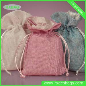 Wholesale drawstring bag: Hot Selling Colorful Rough Jute Pouch Customized Drawstring Jute Bag