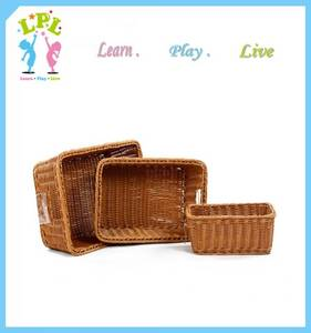 Wholesale wicker baskets: Hand-woven Plastic Wicker Storage Basket
