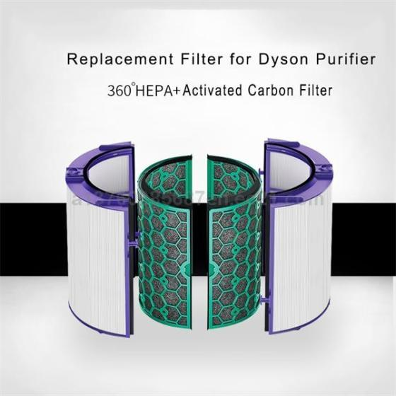 Replacement 360 Degree Hepa Filter Compatible with Dyson HP04/TP04/DP04 Pure Cool Air Purifier and T
