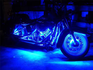 Wholesale Motorcycle Parts: Motorcycle LED Lights-6PCS RGB LED-Control Car Light Atmosphere Strip Kits
