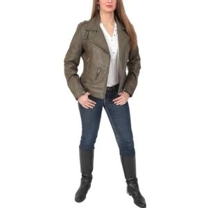 Wholesale biker: Pure Leather Jackets for Womens