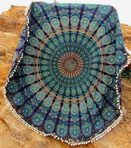 Wholesale beach throw: Round Mandala Cotton Handmade Beach Throw