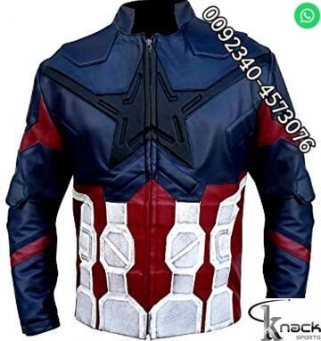 Sell Captain America Real Leather Motorbike Jacket CE Armor Protection All Sizes