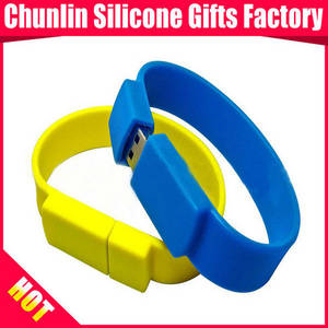 Wholesale silicon usb drive: High Quality USB Flash Drives with Silicone Bracelet