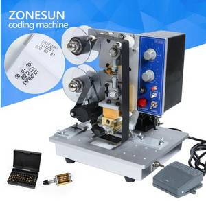 Wholesale hp printer: Semi Automatic Hot Stamp Coding Printer Machine Ribbon Coding Date Character, Hot Code Printer HP-24