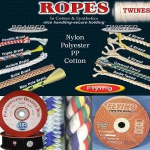 Wholesale twist rope: Braided RopesSignal Halyard Flag LineCotton Rope (Twisted) Twines