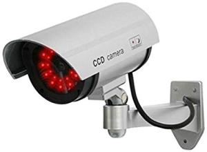 Wholesale security camera: UniquExceptional UDC4silver Fake Security Camera with 30 Illuminating LEDs (Silver)