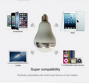 Wholesale remote cotroller: Smartphone Cotrolled and Infrared Remote Controlled RGBW Bluetooth LED Bulb Light