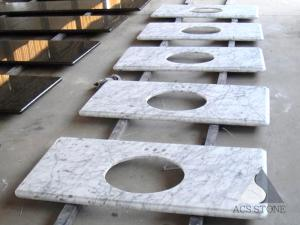 Wholesale white marble: Italy Carrara White Marble Vanity Top