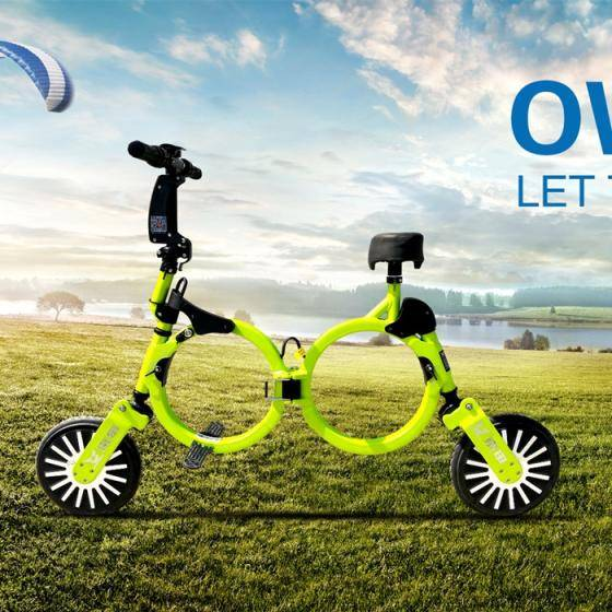 Sell Adult Green Power Portable Mini Folding Electric Bike With Hidden Battery