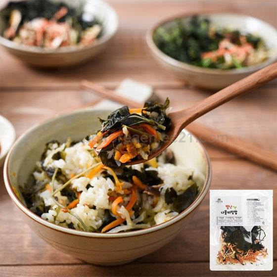 Korean Food Korean Rice Korean Bibimbap Dried Radish Greens Bibimbap Dried Radish Special Food