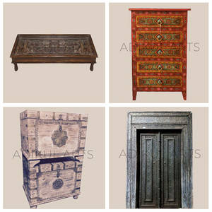 Wholesale furniture: Indian Antique Wooden Furniture Handicraft