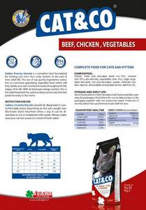 Wholesale cat food: Dry Food for Cat with Beef, Chicken and Vegetables