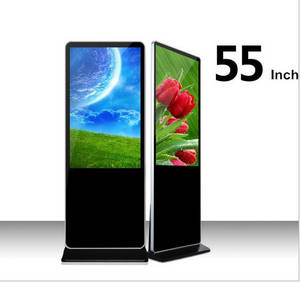 Wholesale digital advertising player: Wholesale 55 Inch LCD Floor Standing Advertising Player Digital Signage Kiosk