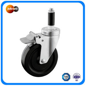 Wholesale Industrial Fuel: Expanding Stem Caster Total Brake Wheel Rubber Wheel