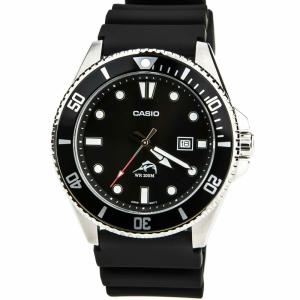 Wholesale dive watches: Casio Men's Watch Sports Black Dial Black Resin Strap Dive MDV106-1A