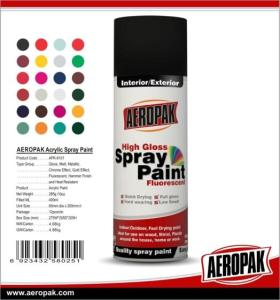 Wholesale Car Paint: AEROPAK High Quality Spray Paint MSDS Aerosol Paint with Many Colors