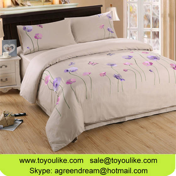 bed linen: Sell Handmade Embroidered Home Textile Bed Linen Set Pure Cotton Duvet Cover