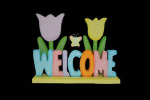 Wholesale bamboo crafts: Wood Crafts Gifts Bamboo Welcome Sign