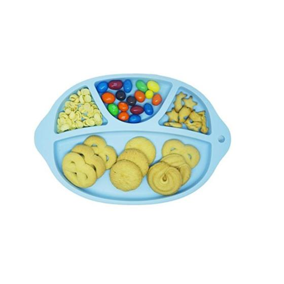 Microwave Dishwasher Safe BPA Free Silicone Grip Dish Suction Divided Baby Toddler Placemat Plate