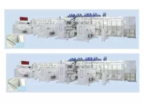 Wholesale industrial glue applicators: 800Pcs/Min 300kw Big Waist Band Baby Diaper Machinery