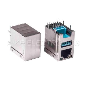 Wholesale female: Height Increased Connector RJ45 Female 8P8C,Tab Up, DIP TYPE with Shell + USB3.0 A Type Female