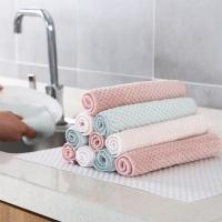 Kitchen Absorb Water Polyester Blanket Dish Towel Cleaning Cloth