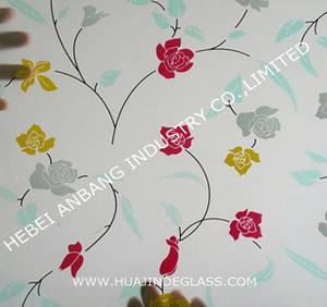 Wholesale partition furniture: Silk Screen Print Pattern Glass/Decorative Glass/Titanium Glass