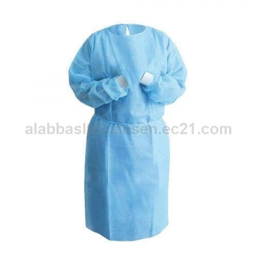 PP and PE Coated Disposable Isolation  Gown with Knit Cuff and Long Sleeve