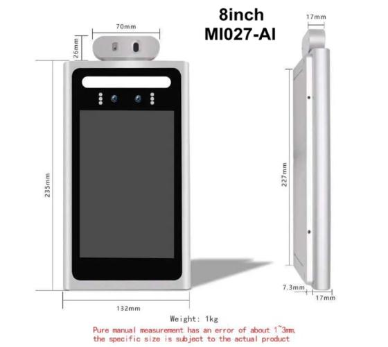 Sell Face recognition machine 8-inch MI027-AI