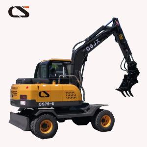 Wholesale 7ton digger china factory: 7ton Hydraulic Wheel Digger with Hydraulic Log Grapple