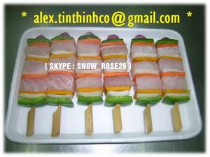 Wholesale tiger king: Frozen Seafood Skewer Fish
