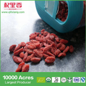 Wholesale dried fruit: Ningxia Sun Dried Fruit Manufacturer Supplying 2017 New Harvest Dried Organic Goji Berries with Hot
