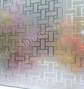Wholesale acid etch glass: Frosted Glass Acid Etching, Acid Etched Decorative Art Glass