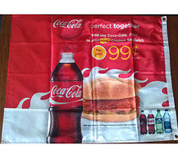 Wholesale 100 gsm sublimation paper: Heat Transfer Printed Festival Flag with Polyester Nylon Fabric