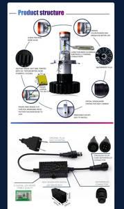 Wholesale headlight h4: G6 Automotive Car LED Headlights Bulb Phillips Z-ES Chips H4 Hi Lo