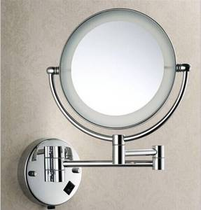 Wholesale led wall mirror: 5228 LED Light Wall Mounted Cosmetic Magnifying Mirror