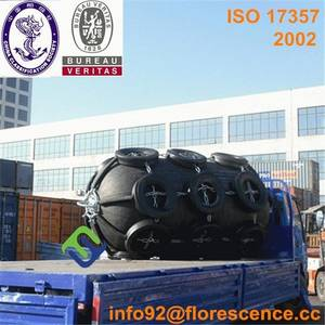 Wholesale bulk carriers ship: Florescence Pneumatic Ship Fender with Tire Chain