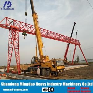 Wholesale 32 ton crane: Small Deadweight Strong Lifting Capacity 32 Ton Trail Running Type Gantry Crane with Small Windward