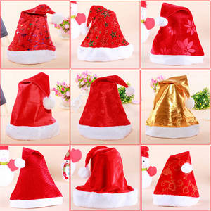 Wholesale Scarf, Hat & Glove Sets: New Cheap High Quality Promotion Party Santa Claus Cap Christmas Hat Gift