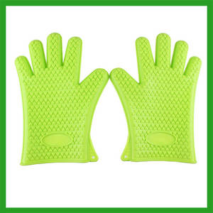 Wholesale silicone cooking gloves: Silicone Heat Resistant Glove