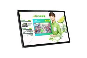 Wholesale lcd advertising player: 32 Inch LCD Advertising Player with 6 Points IR Touch Optional Digital Signage