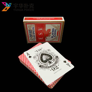 Wholesale Gambling: Standard Playing Cards with 310gsm Black Core Paper for Casino