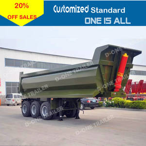 Wholesale amy uniform: 3 Axles 45 Tons U Shape Dump Truck Trailer