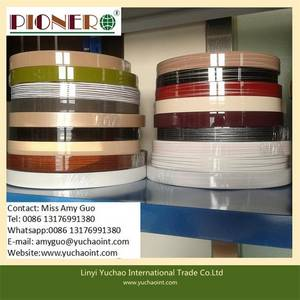 Wholesale PVC Belts: Hot Sale PVC Edge Banding with Solid Color/Wood Grain