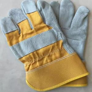 Wholesale leather gloves: Industrial Welding Working Protective Leather Welding Safety Gloves