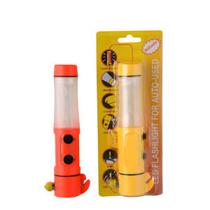Wholesale multifunctional flashlight: 5 in 1 Multifunctional Safety Hammer